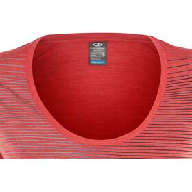 Icebreaker Sphere Cool Relief SS Scoop Shirt Women poppy red hthr